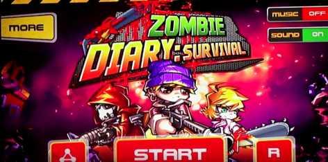 Zombie Diary взломанная (Чит бесконечные деньги)