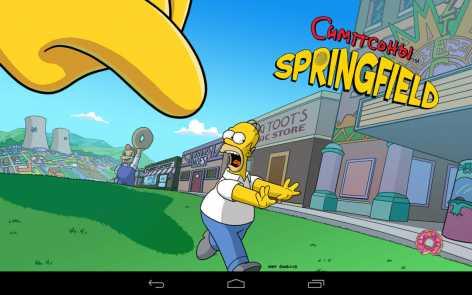 Взломанные The Simpsons: Tapped Out (мод бесконечные пончики)