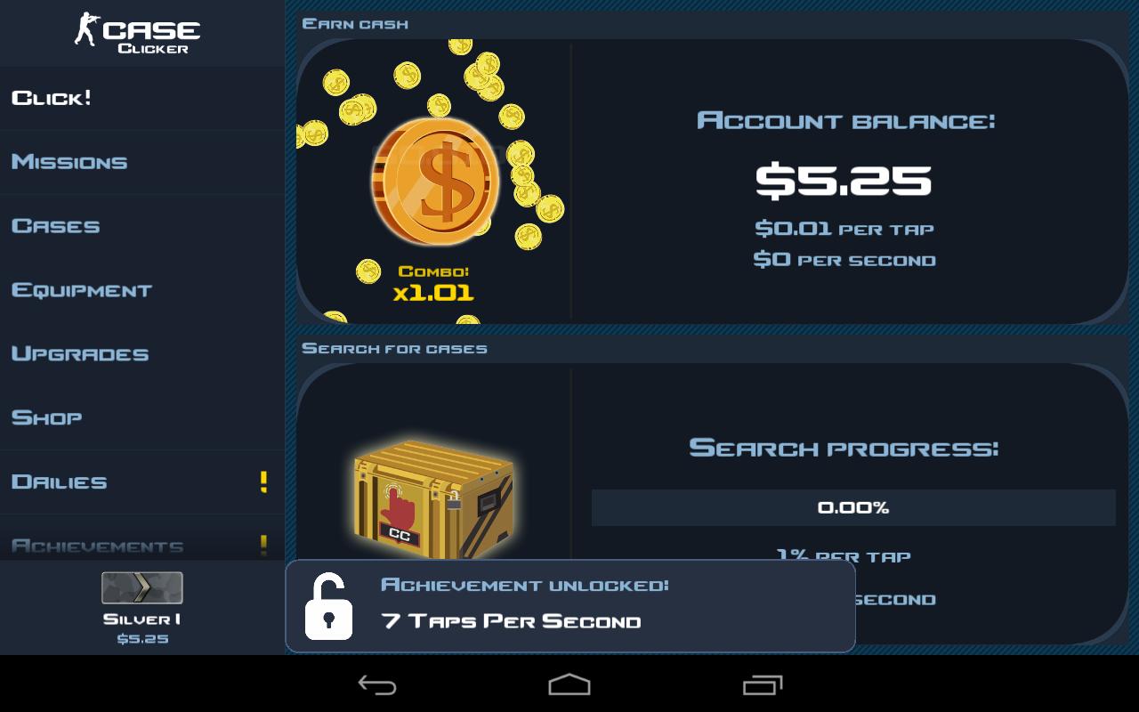Скачать Case Clicker 2 (MOD, много денег/кейсов) на андроид
