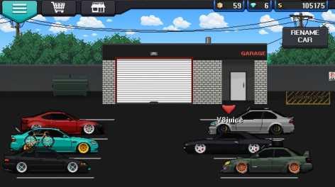 Взломанная Pixel Car Racer (Мод много денег)