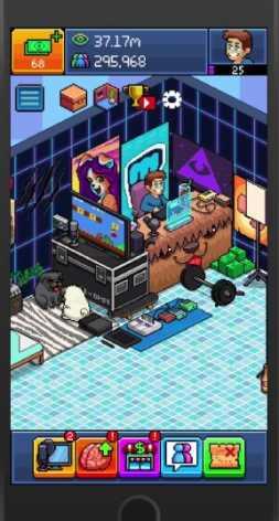Взломанный PewDiePie's Tuber Simulator на много денег