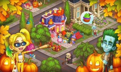 Monster Farm: Ферма - Хэллоуин в Городке Монстров взломанный (Мод много денег)