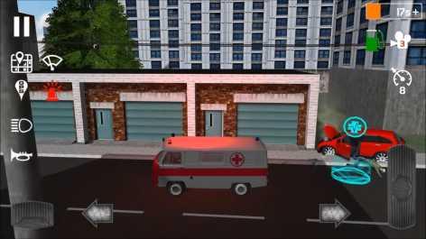 Emergency Ambulance Simulator взломанный (Мод много денег)