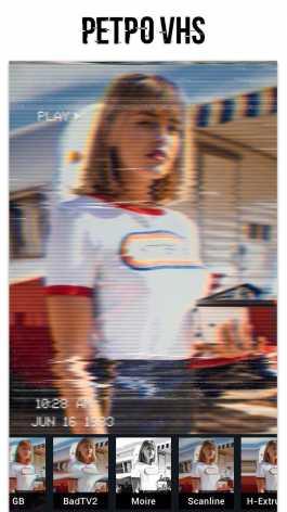 Глитч Фоторедактор – VHS, эффект глитча, vaporwave Mod Pro