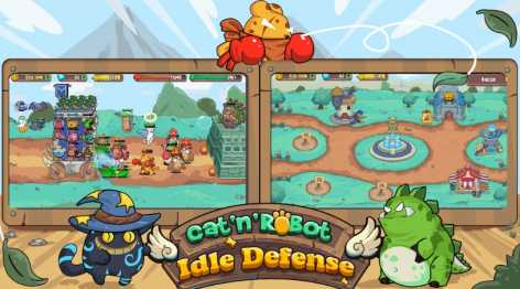 Cat'n'Robot: Idle Defense - Cute Castle TD PVP взлом (Мод на деньги и кристаллы)