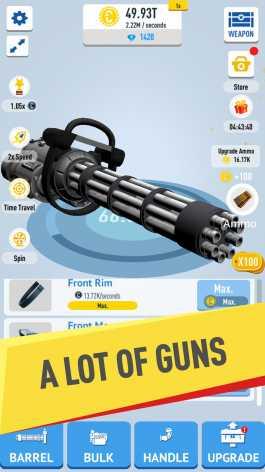 Idle Guns 3D взломанный (Mod: много денег)