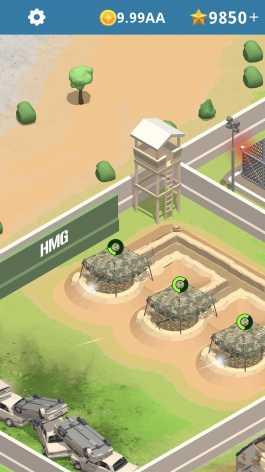 Взломанный Idle Army Base (Мод много денег и кристаллов)