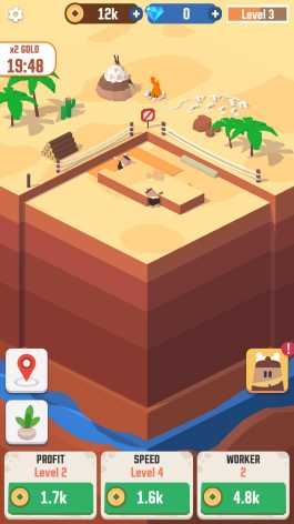 Idle Digging Tycoon взлом (Мод много денег и алмазов)