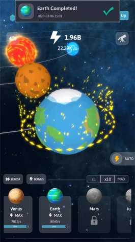 Idle Galaxy взлом (Mod: много денег)
