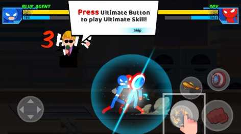 Stick Super: Hero – The stickman shadow fight взлом (Mod: много денег)