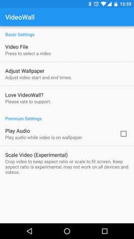 Взлом VideoWall - Video Wallpaper (Mod: Premium)