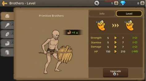 Примитивные братья: охотник на динозавров взлом (Мод много денег)
